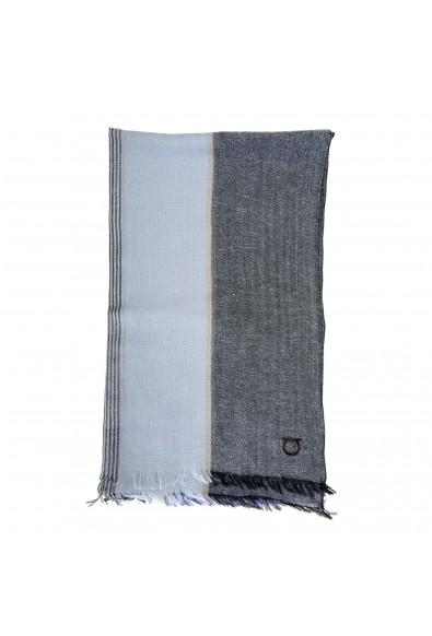 Salvatore Ferragamo Multi-Color Linen Wool Striped Shawl Scarf: Picture 2