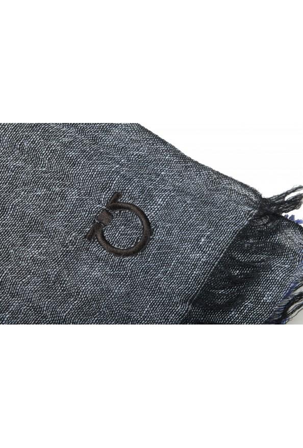 Salvatore Ferragamo Multi-Color Linen Wool Striped Shawl Scarf: Picture 3