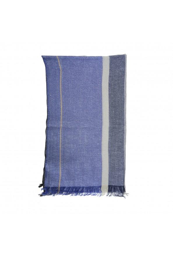 Salvatore Ferragamo Multi-Color Linen Wool Striped Shawl Scarf: Picture 4