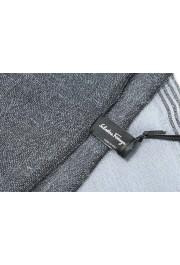 Salvatore Ferragamo Multi-Color Linen Wool Striped Shawl Scarf: Picture 5