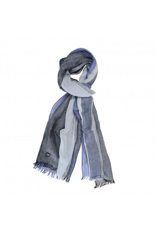 Salvatore Ferragamo Multi-Color Linen Wool Striped Shawl Scarf