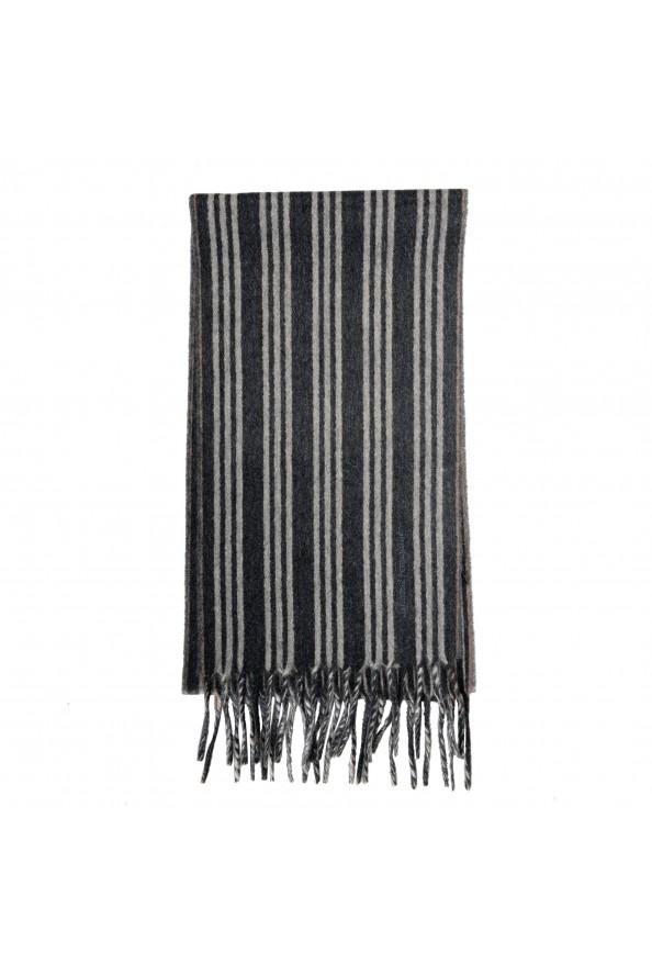 Salvatore Ferragamo Multi-Color 100% Cashmere Striped Logo Print Shawl Scarf: Picture 2