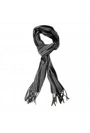 Salvatore Ferragamo Multi-Color 100% Cashmere Striped Logo Print Shawl Scarf
