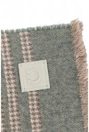 Salvatore Ferragamo Multi-Color Silk Wool Checkered Shawl Scarf: Picture 3