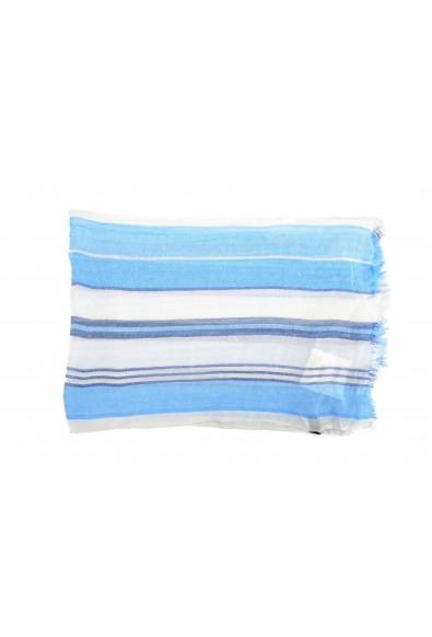 Salvatore Ferragamo Multi-Color Linen Cashmere Striped Shawl Scarf: Picture 2