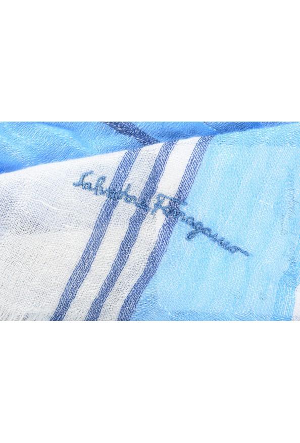 Salvatore Ferragamo Multi-Color Linen Cashmere Striped Shawl Scarf: Picture 4