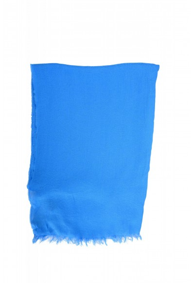 Versace Royal Blue Logo Print Large Shawl Scarf: Picture 2