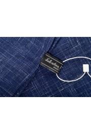 Salvatore Ferragamo Blue Silk Linen Cashmere Graphic Print Shawl Scarf: Picture 4