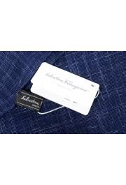 Salvatore Ferragamo Blue Silk Linen Cashmere Graphic Print Shawl Scarf: Picture 5