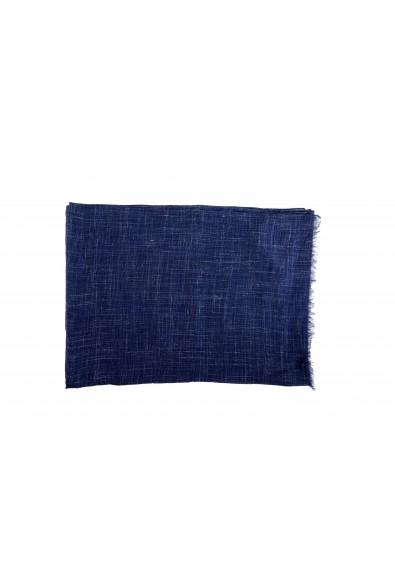 Salvatore Ferragamo Blue Silk Linen Cashmere Graphic Print Shawl Scarf: Picture 2