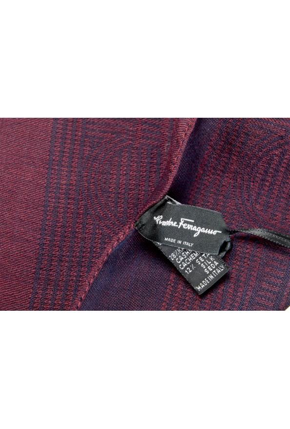 Salvatore Ferragamo Silk Wool Cashmere Logo Print Shawl Scarf: Picture 3