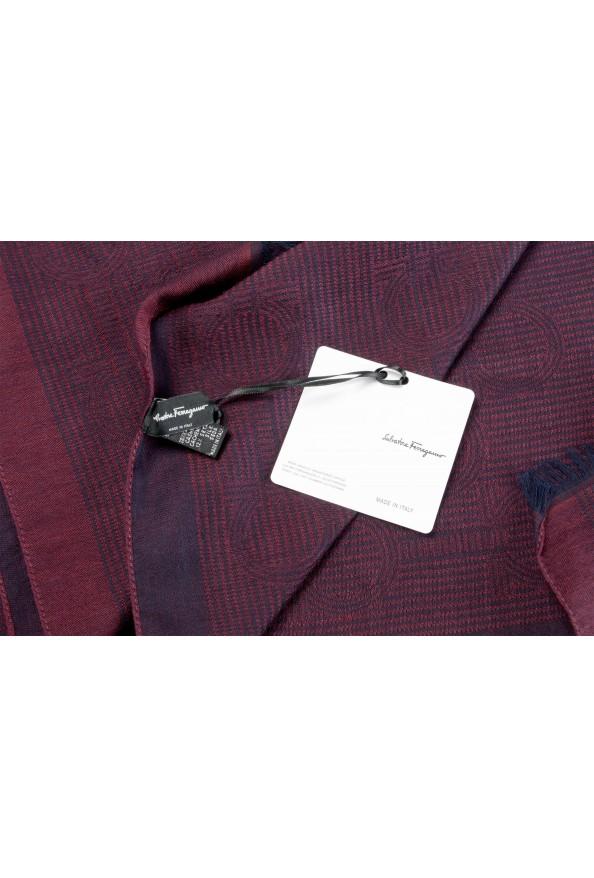 Salvatore Ferragamo Silk Wool Cashmere Logo Print Shawl Scarf: Picture 4