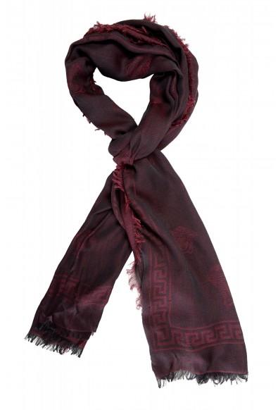 Salvatore Ferragamo Silk Wool Cashmere Logo Print Shawl Scarf