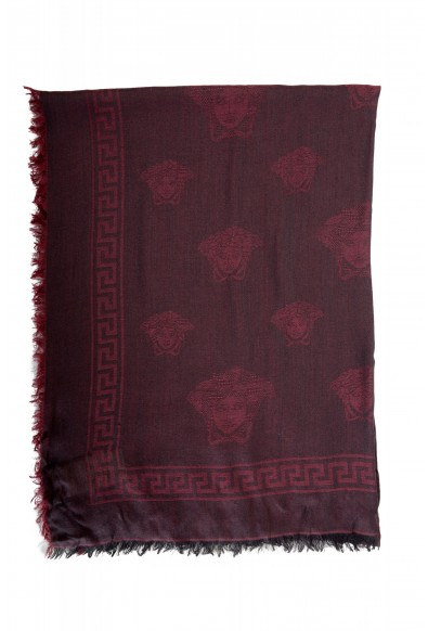 Versace Multi-Color Silk Logo Print Large Shawl Scarf: Picture 2