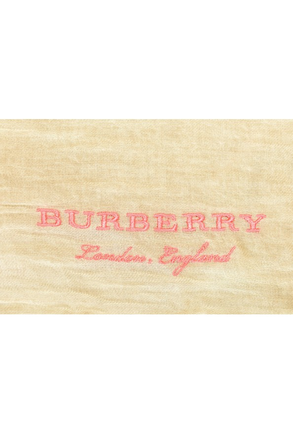 Burberry 100% Cashmere Beige Shawl Scarf: Picture 2