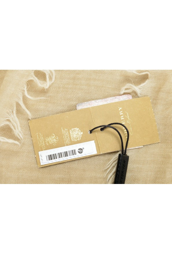 Burberry 100% Cashmere Beige Shawl Scarf: Picture 4