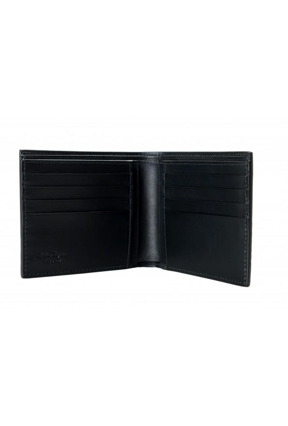 Salvatore Ferragamo Men's Black Croc Print 100% Leather Bifold Wallet: Picture 3