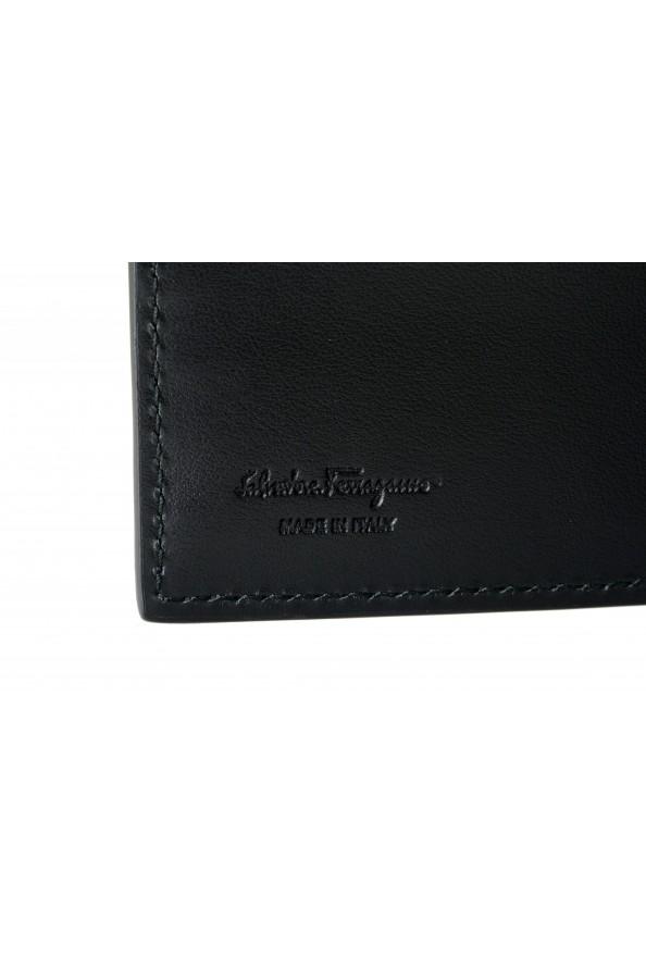 Salvatore Ferragamo Men's Black Croc Print 100% Leather Bifold Wallet: Picture 4