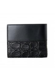 Salvatore Ferragamo Men's Black Croc Print 100% Leather Bifold Wallet: Picture 5