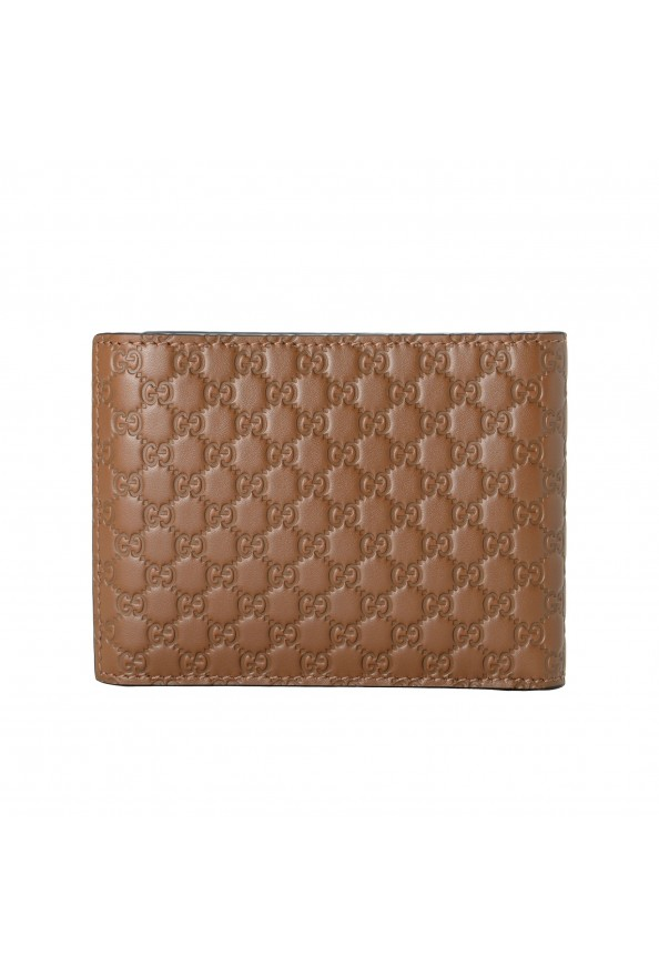 Gucci Men's Brown Leather Microguccissima Bifold Wallet: Picture 4