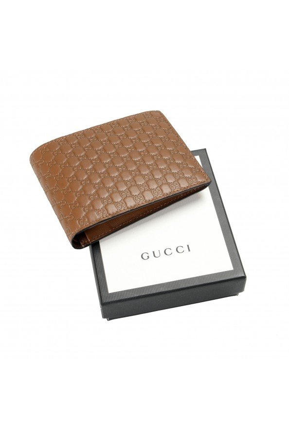 Gucci Men's Brown Leather Microguccissima Bifold Wallet: Picture 5