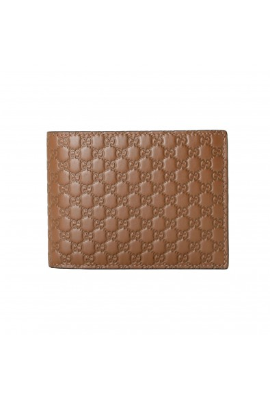 Gucci Men's Brown Leather Microguccissima Bifold Wallet