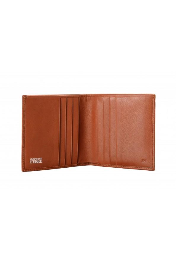 Gianfranco Ferre Men's Cognac Brown 100% Textured Leather Bifold Wallet: Picture 3