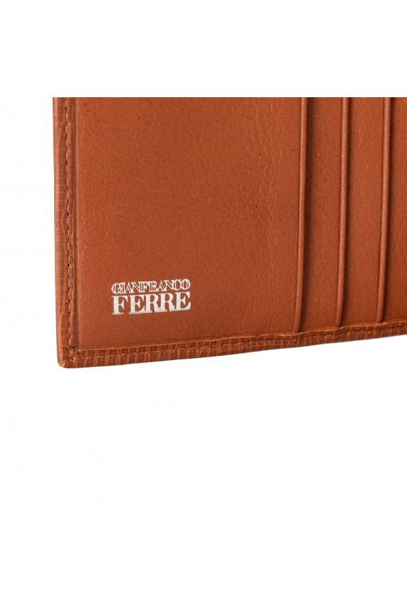Gianfranco Ferre Men's Cognac Brown 100% Textured Leather Bifold Wallet: Picture 4