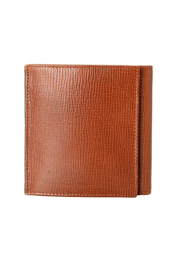 Gianfranco Ferre Men's Cognac Brown 100% Textured Leather Bifold Wallet: Picture 5