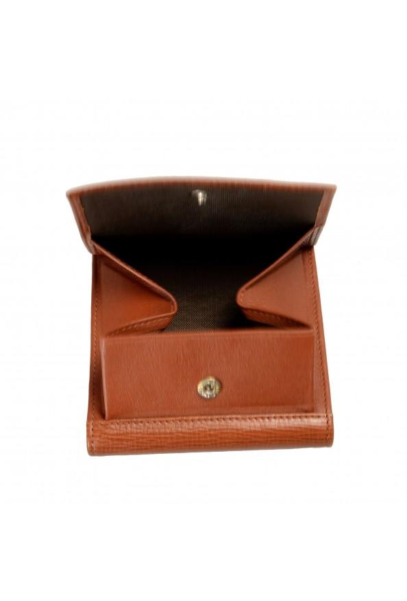 Gianfranco Ferre Men's Cognac Brown 100% Textured Leather Bifold Wallet: Picture 6