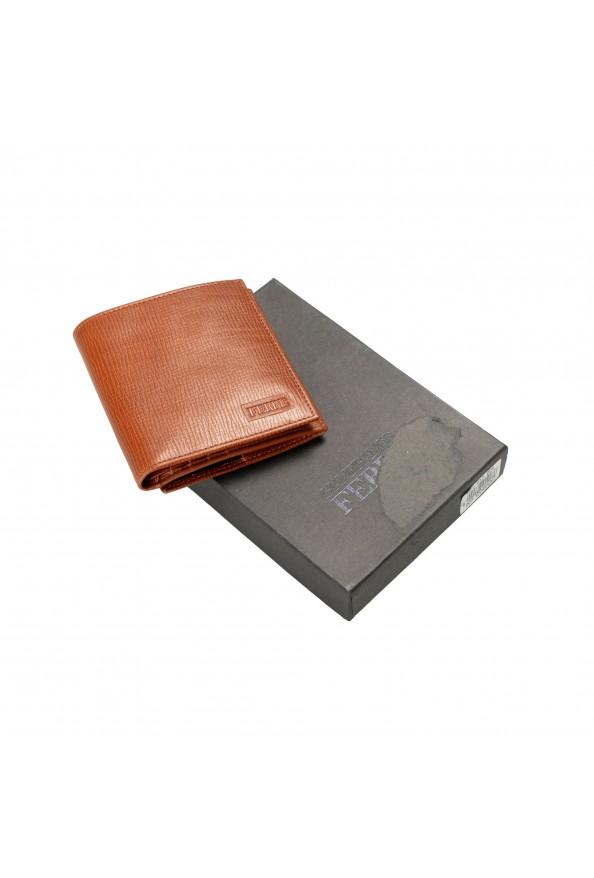 Gianfranco Ferre Men's Cognac Brown 100% Textured Leather Bifold Wallet: Picture 7