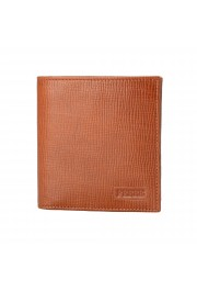Gianfranco Ferre Men's Cognac Brown 100% Textured Leather Bifold Wallet