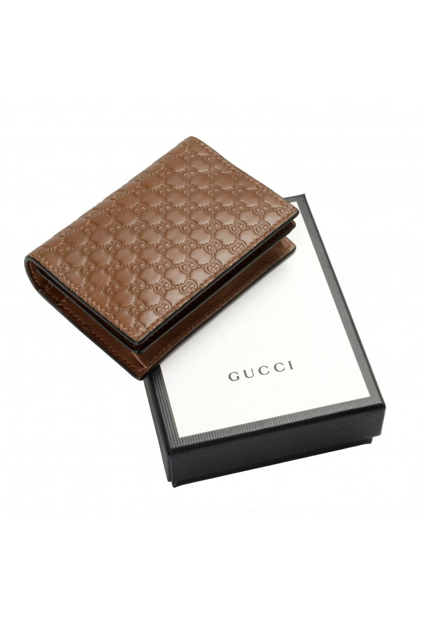 Gucci Women's Brown Leather Microguccissima Wallet: Picture 8