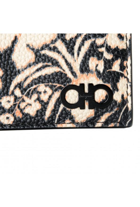 Salvatore Ferragamo Women's Pebbled Leather Floral Print Card Wallet: Picture 2