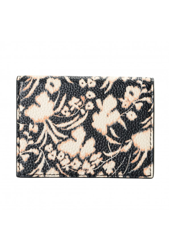 Salvatore Ferragamo Women's Pebbled Leather Floral Print Card Wallet: Picture 4