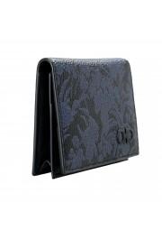 Salvatore Ferragamo Women's Pebbled Leather Floral Print Card Wallet: Picture 3