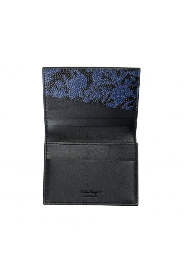 Salvatore Ferragamo Women's Pebbled Leather Floral Print Card Wallet: Picture 5