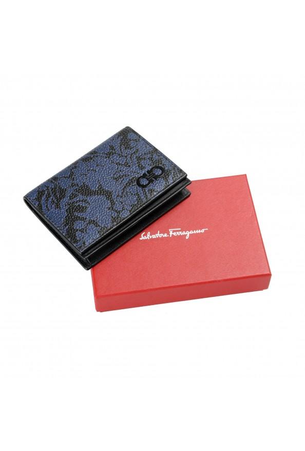 Salvatore Ferragamo Women's Pebbled Leather Floral Print Card Wallet: Picture 7