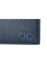 Salvatore Ferragamo Men's Navy Blue 100% Pebbled Leather Bifold Wallet: Picture 2