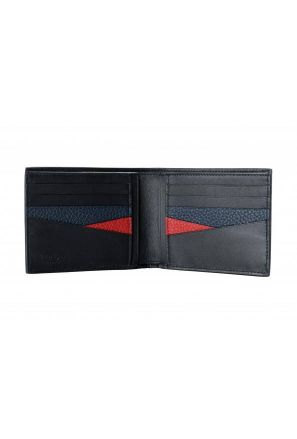 Salvatore Ferragamo Men's Navy Blue 100% Pebbled Leather Bifold Wallet: Picture 3