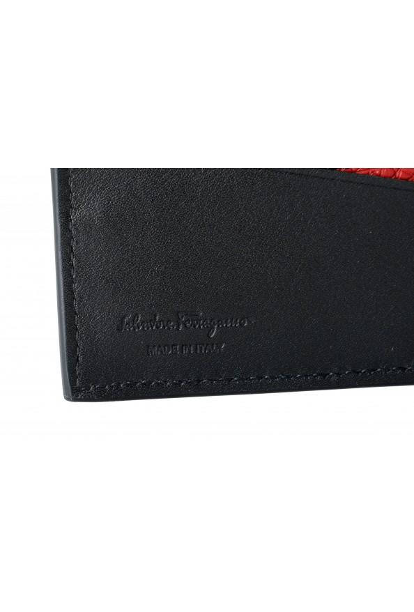 Salvatore Ferragamo Men's Navy Blue 100% Pebbled Leather Bifold Wallet: Picture 4