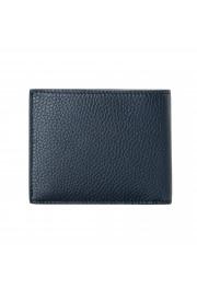 Salvatore Ferragamo Men's Navy Blue 100% Pebbled Leather Bifold Wallet: Picture 5