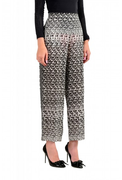 Viktor & Rolf Women's Gray 100% Silk Flat Front Casual Pants : Picture 2