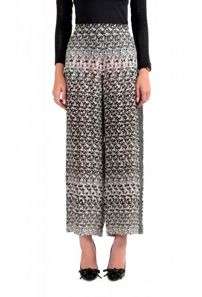 Viktor & Rolf Women's Gray 100% Silk Flat Front Casual Pants