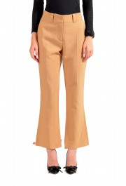 Just Cavalli Women's Beige Flat Front Casual Pants
