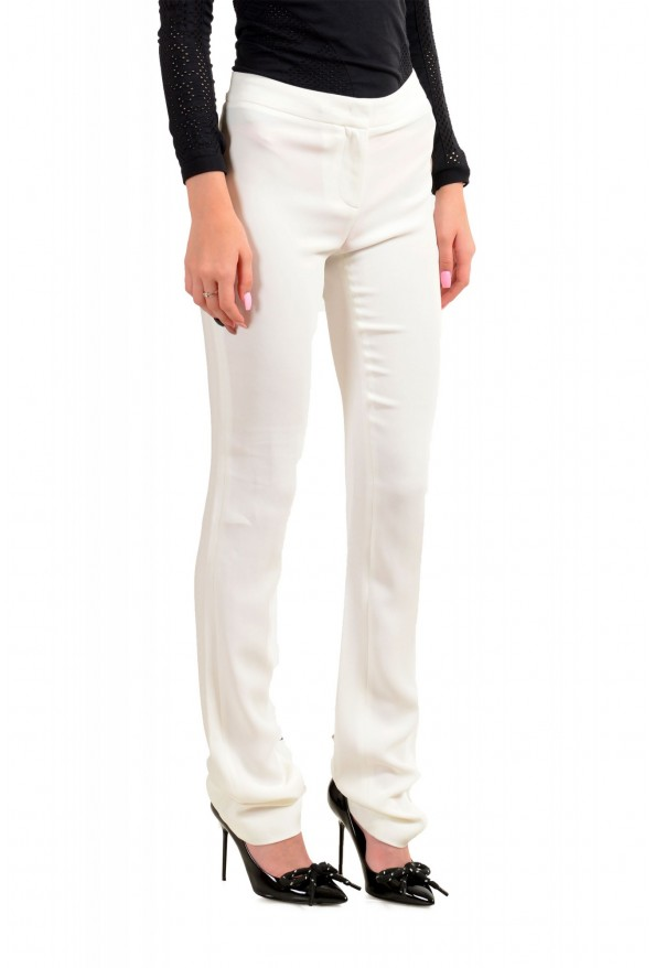 Just Cavalli Women's Ivory Flat Front Casual Pants: Picture 2