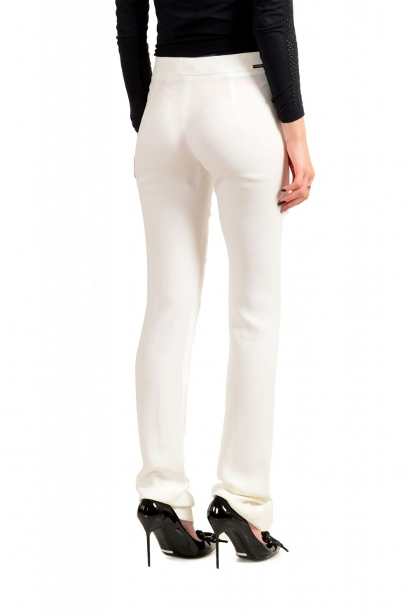 Just Cavalli Women's Ivory Flat Front Casual Pants: Picture 3