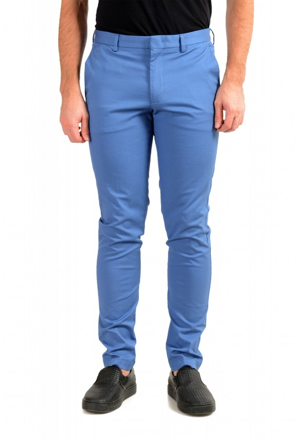 """Hugo Boss Men's """"Kaito1"""" Blue Flat Front Stretch Casual Pants"""