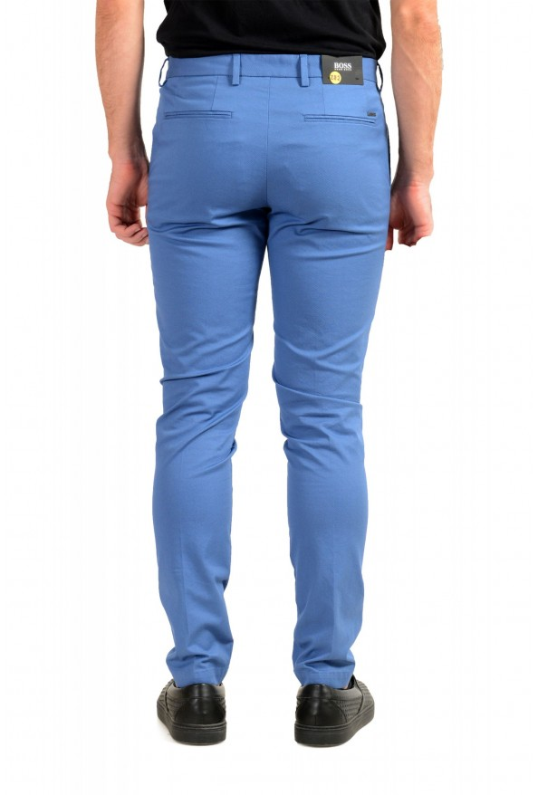 """Hugo Boss Men's """"Kaito1"""" Blue Flat Front Stretch Casual Pants : Picture 3"""