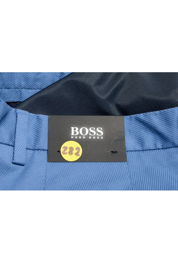 """Hugo Boss Men's """"Kaito1"""" Blue Flat Front Stretch Casual Pants : Picture 4"""